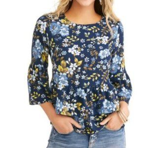 Time and Tru Floral layered blouse size 4/6